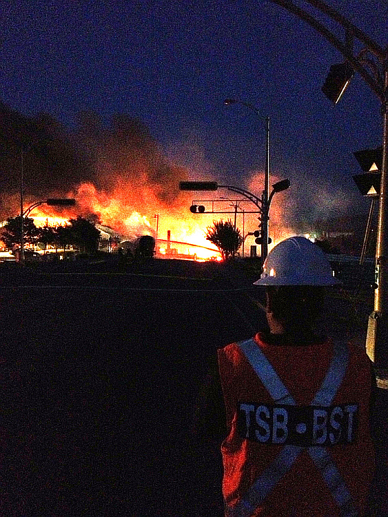 TSB documenting the accident site